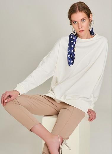 Monamoda Önü Dikiş Detaylı Pantolon Vizon